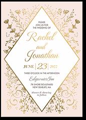 shining diamond wedding invitation