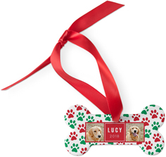 best in show christmas pawprints dog ornament