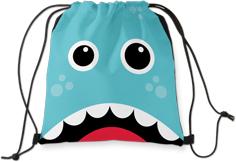 moon and stars monster drawstring backpack