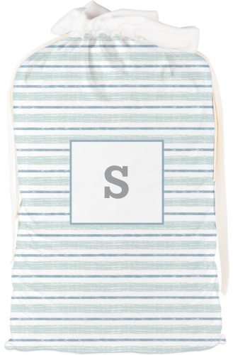 Watercolor Monogram Drawstring Bag