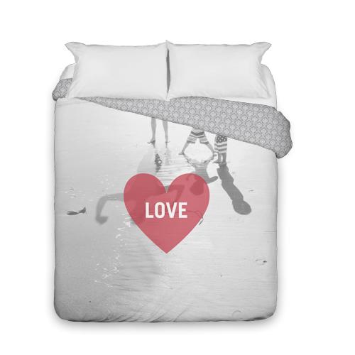 Love Heart Overlay Duvet Cover