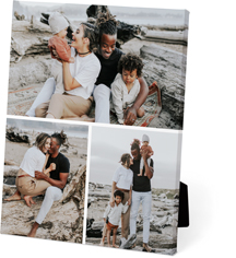 gallery of three easel back canvas