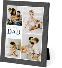 textured modern dad easel back canvas