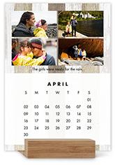 neutral gallery easel calendar