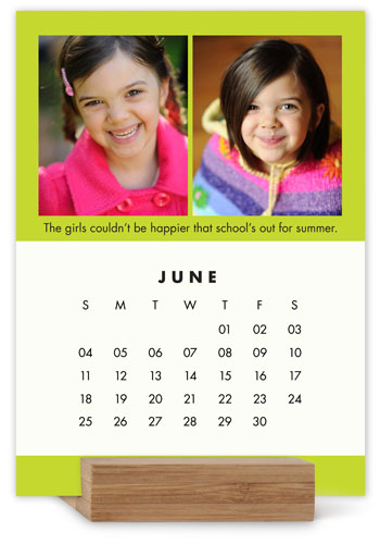 Colorful Gallery Easel Calendar By Yours Truly  Shutterfly