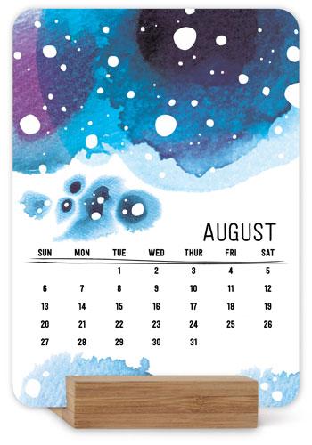 Watercolor Patterns Easel Calendar