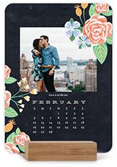 whimsical florals easel calendar