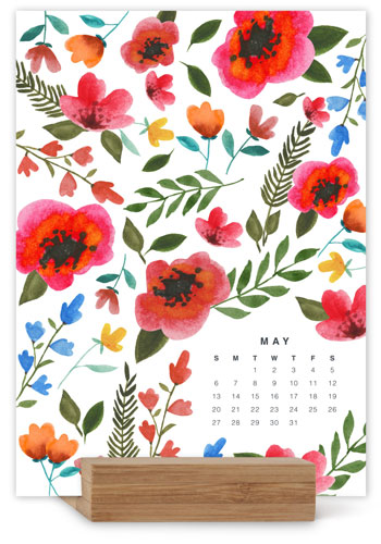 Whimsical Watercolor Easel Calendar