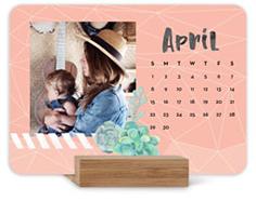 watercolor botanicals easel calendar