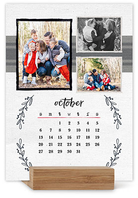 Rustic Charm Easel Calendar By Yours Truly Shutterfly