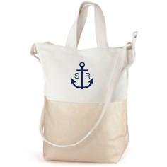 anchors away canvas tote bag