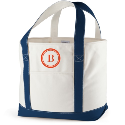 Circle Frame Canvas Tote Bag