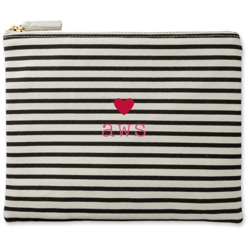Perfect Pair Heart Canvas Pouch