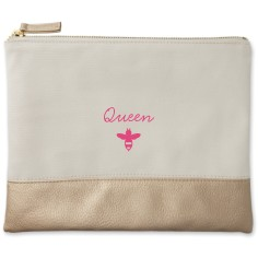 queen bee canvas pouch