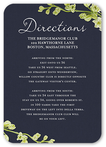 Budding Romance Wedding Enclosure Card
