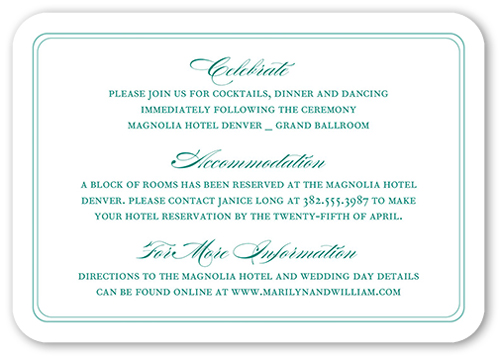 Beautiful Border Wedding Enclosure Card