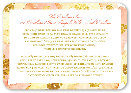 Blooming Forever Wedding Enclosure Card