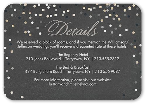 Shimmering Celebration Wedding Enclosure Card
