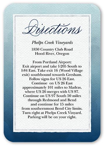 Watercolor Wedding Wedding Enclosure Card, Square