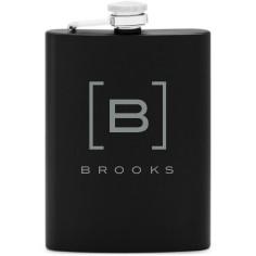 bracket monogram flask