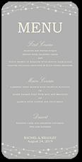 glowing bright wedding menu