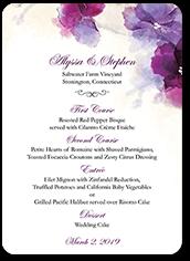 soft bougainvillea wedding menu