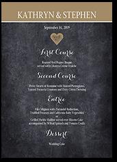 wedding menu cards shutterfly