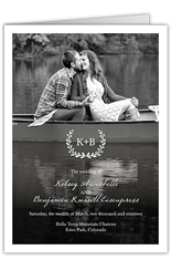 refined monogram wedding program