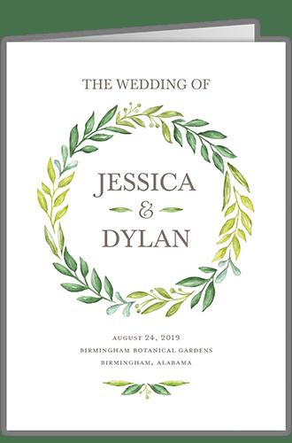 Gleeful Garden Wedding Program