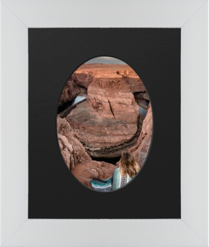 Prints By Deluxe: Centered Oval Deluxe Mat Framed Print