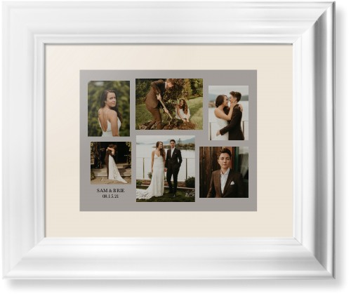 Gallery Collage of Six Framed Print, White, Classic, None, Cream, Single piece, 8 x 10 inches, ...