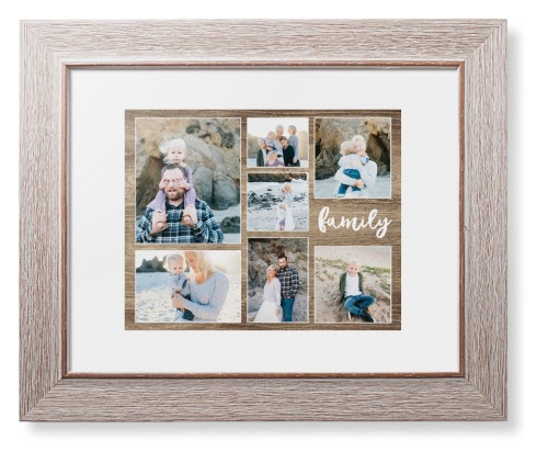 Rustic family collage framed print wall art shutterfly for Modern family printer