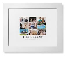 modern grid gallery of nine framed print