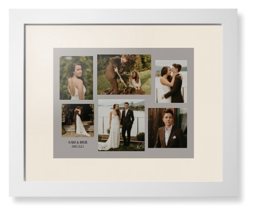 Gallery Collage of Six Framed Print, White, Contemporary, None, Cream, Single piece, 11 x 14 ...