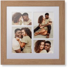 mixed four up portrait deluxe mat framed print