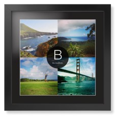 bold monogram framed print from 7999 6399 personalize