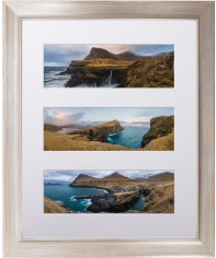 panoramic three up deluxe mat framed print