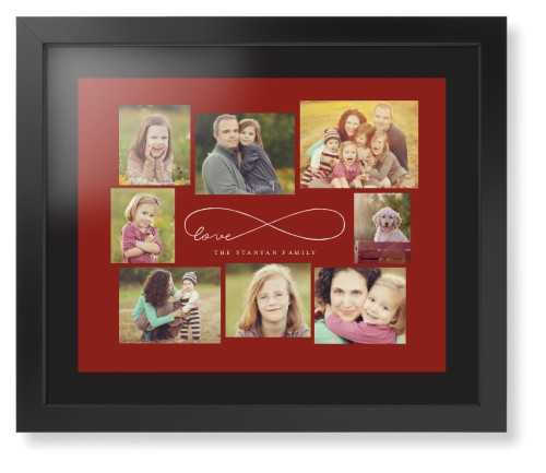 Love Infinity Framed Print, Black, Contemporary, Black, Black, Single piece, 16 x 20 inches, Red