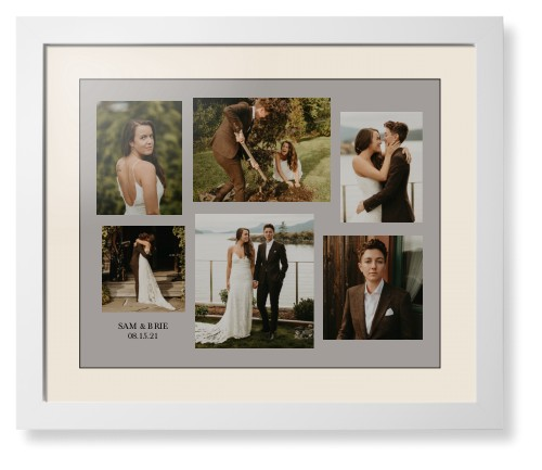 Gallery Collage of Six Framed Print, White, Contemporary, Black, Cream, Single piece, 16 x 20 ...