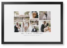clean gallery collage of eight framed print