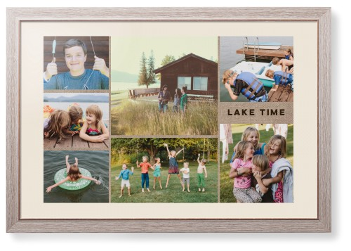 Picture Gallery Collage of Seven Framed Print
