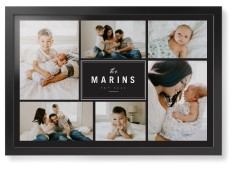contemporary family collage framed print