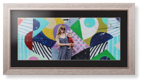 Gallery Panoramic Framed Print, Rustic, Modern, Cream, Black, Single piece, 10 x 24 inches, ...