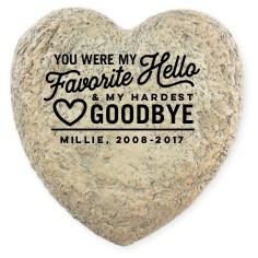 hardest goodbye garden stone