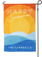 summer sunset garden flag