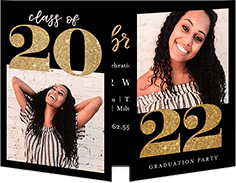 Twinkling Year Graduation Invitation