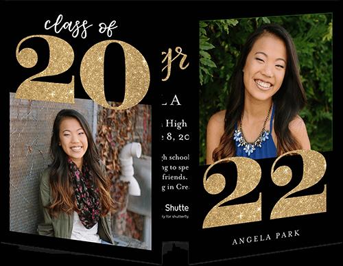 Elegant Year Collage Graduation Announcement, Square Corners