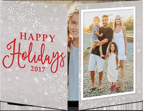 Winter Falling Flakes Holiday Card
