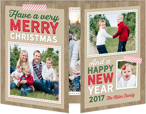 Very Merry Wood Christmas Card