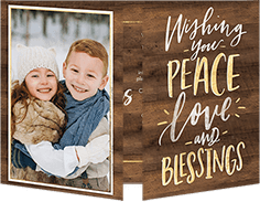 religious christmas card from 127 079 cozy blessings - Personalized Religious Christmas Cards